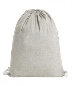 Zugbeutel mit Logo aus pre-recycelter Baumwolle